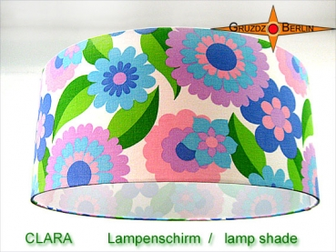 Lamp shade CLARA Ø 45 cm original flowers of 70s