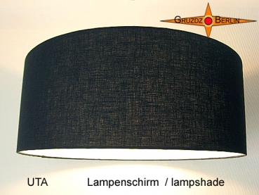 lamp shade UTA Ø 45 cm Classic in black linen