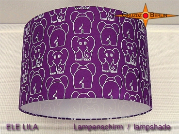 Purple children's lampshade ELE PURPLE Ø35 cm Lampshade with elephant