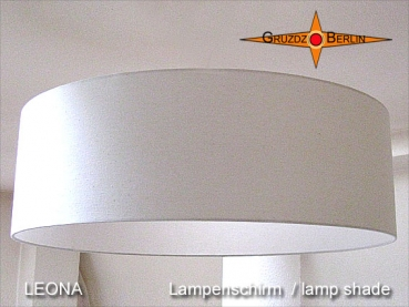 Lamp shade beige LEONA Ø70 cm Linen natural colors light