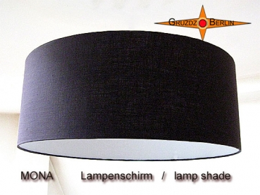 lamp shade MONA Ø 45 cm linen in chocolate brown