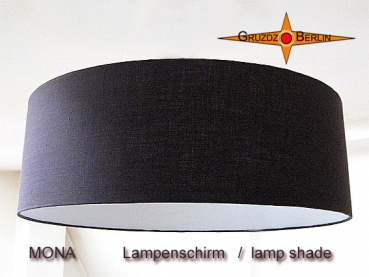 lamp shade MONA Ø 60 cm linen in chocolate brown