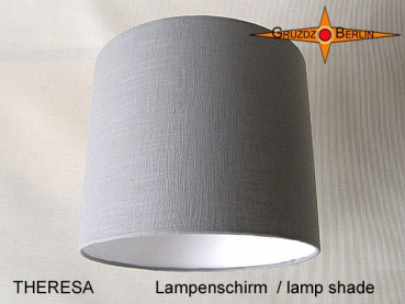 lamp shade THERESA Ø 25 cm Classic in light grey