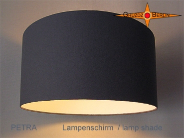 lamp shade PETRA Ø 30 cm cotton twill stone grey