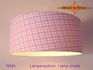 lamp shade NINA Ø 45 cm light purple squared