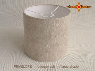 Little lampshade natural colored linen PENELOPE d 25 cm
