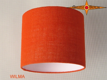 lamp shade WILMA Ø 25 cm orange jute
