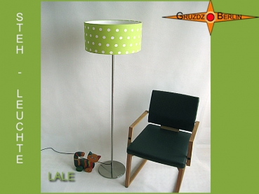 LALE Floor lamp green with white polka dots
