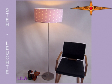 Floor lamp dotted LILA floor lamp lilac dots