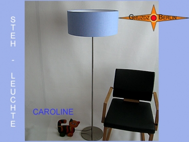 Light blue floor lamp CAROLINE floor lamp Blue linen
