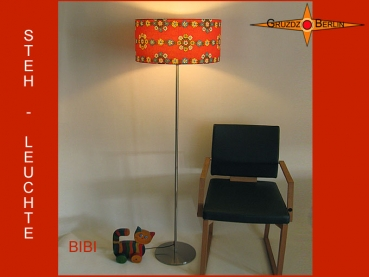 Floor lamp Vintage BIBI floor lamp with Pril flowers