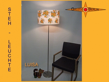Floor lamp LUISA h 165 cm original flowers of 60s