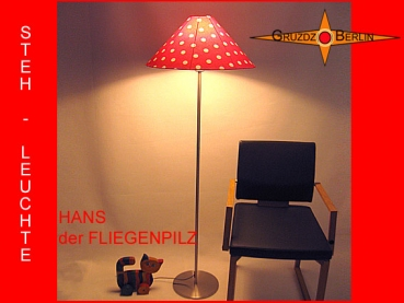 Floor lamp TOADSTOOL HANS h 155 cm dots red white