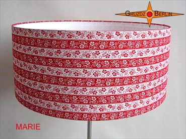 Floor lamp MARIE h 155 cm ring around in red retro