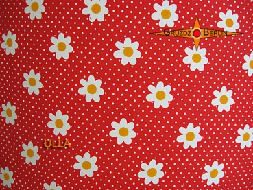 lamp shade ULLA Ø 45 cm red with dots flowers