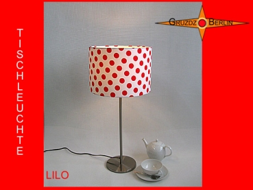 Table lamp LILO Ø 30 cm dots in red white