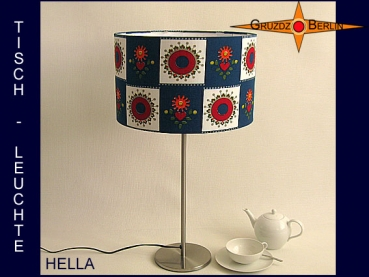 Table lamp blue flowers HELLA table lamp in vintage design