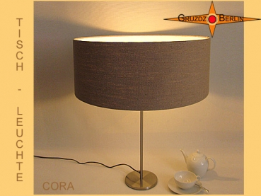 Linen table lamp CORA country style lamp