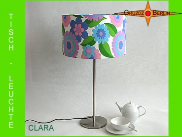 Vintage Table lamp CLARA retro design flowers 70s