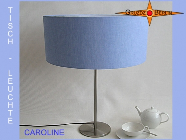 Table lamp blue CAROLINE table lamp linen blue