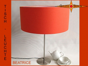 Orange table lamp BEATRICE table lamp linen