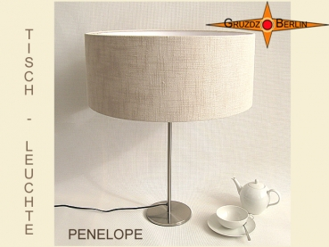 Natural colored table lamp linen PENELOPE