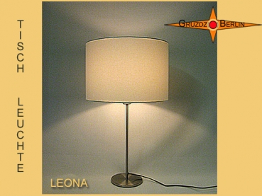 Table lamp cream LEONA Table lamp in natural tone