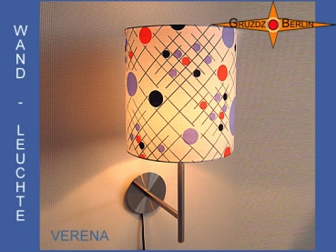 Wall lamp VERENA Ø 20 cm dots Retro 70s