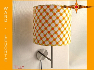Wall lamp TILLY Ø 20 cm dots Retro 70s Prilflowers