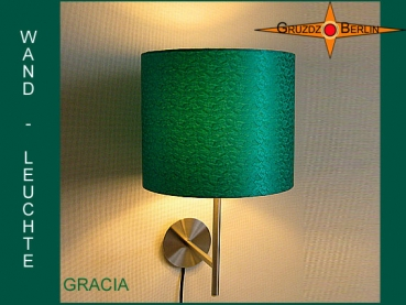 Wall lamp GRACIA Ø 20 cm silk emerald green