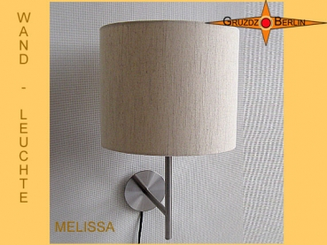 Wall lamp MELISSA Ø 25 cm linen light beige