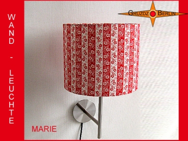 Wall lamp MARIE Ø 25 cm stripes retro design 70s