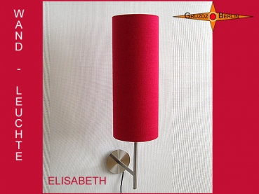 Wall lamp ELISABETH Ø 15 cm h58 cm red silk