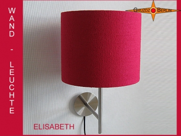 Wall lamp ELISABETH Ø 25 cm royal red silk lamp