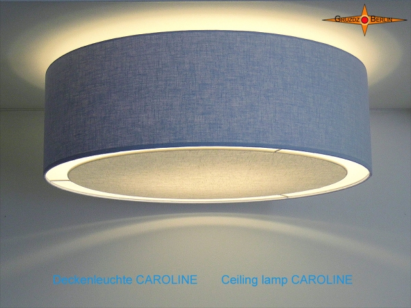 Blue ceiling lamp CAROLINE Ø45 cm ceiling light  with diffuser