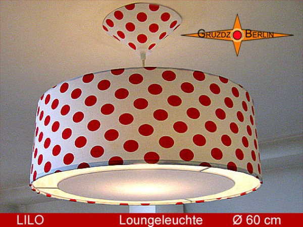 Lounge lamp LILO Ø 60 cm, pendant lamp with light edge and canopy, dots