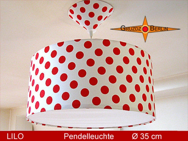 Lamp LILO Ø 35 cm pendant lamp with diffuser and canopy dots