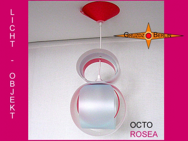 Lamp OCTO ROSEA light objekt with canopy pink