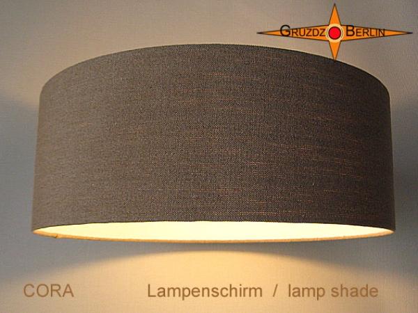 gruzdz berlin leuchten lampenschirme lichtobjekte lampenschirm cora 60 cm edles bauernleinen. Black Bedroom Furniture Sets. Home Design Ideas