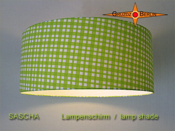 lamp shade SASCHA Ø 45 cm lime green squared