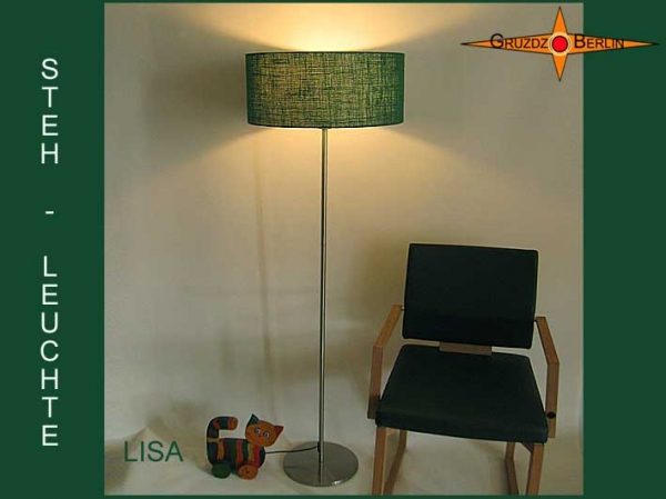 Floor lamp LISA h 155 cm green jute