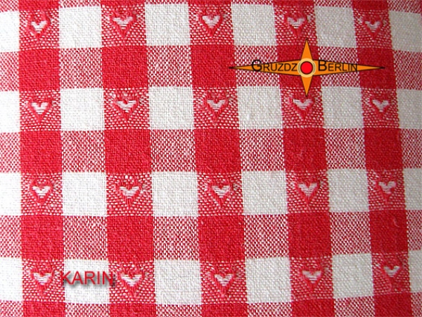Offer - Stock: Lampshade red white checkered KARIN Ø30 cm Lamp with heart