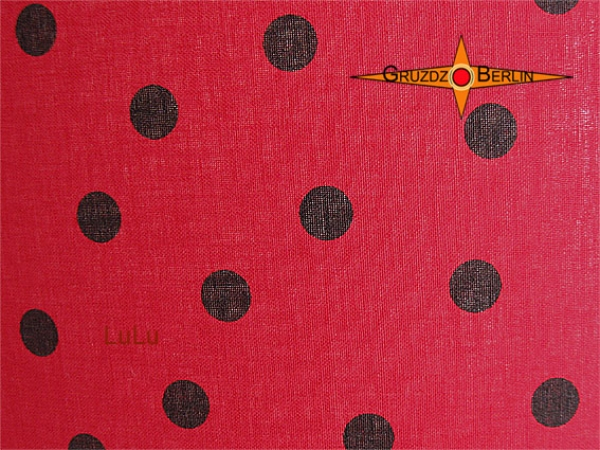 lamp shade Ø 50 cm LULU dots in black red
