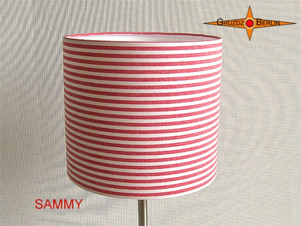 Wall lamp SAMMY Ø 25 cm red white ring around