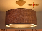 Jute hanging lamp HEIDE Ø45 cm Pendant light with light edge diffuser