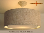 Pendant lamp of linen HELENA Ø50 cm  hanging lamp with diffuser
