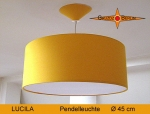 Lamp LUCILA Ø 45cm, pendant lamp with diffuser and canopy, sunyellow