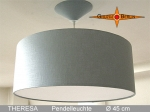 Lamp THERESA Ø 45 cm, pendant lamp with diffuser and canopy, linen