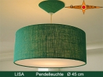 Lamp LISA Ø 45 cm pendant lamp with diffuser and canopy green jute