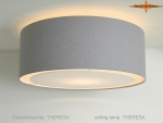 Gray ceiling lamp THERESA Ø45 cm ceiling light with diffuser